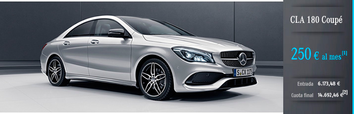 Oferta Mercedes CLA 180 con Mercedes-Benz Alternative